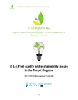 Report on Fuel quality and sustainability issues in the Target Regions