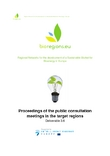Proceedings of the public consultation meetings in the target regions